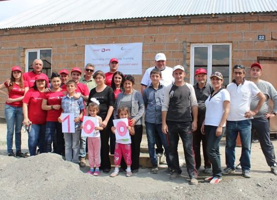 VivaCell-MTS funds 100th home in Armenia though partnership with Fuller Center