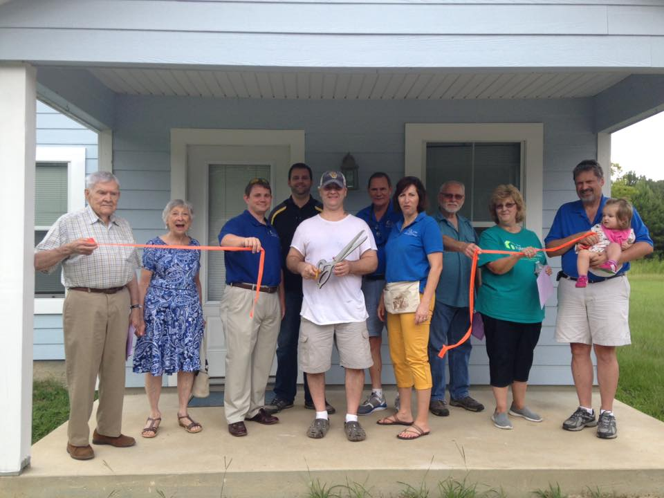 Home dedication for Mark Miley.