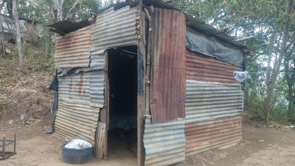 A typical shack in Nuevo Cuscátlan, El Salvador