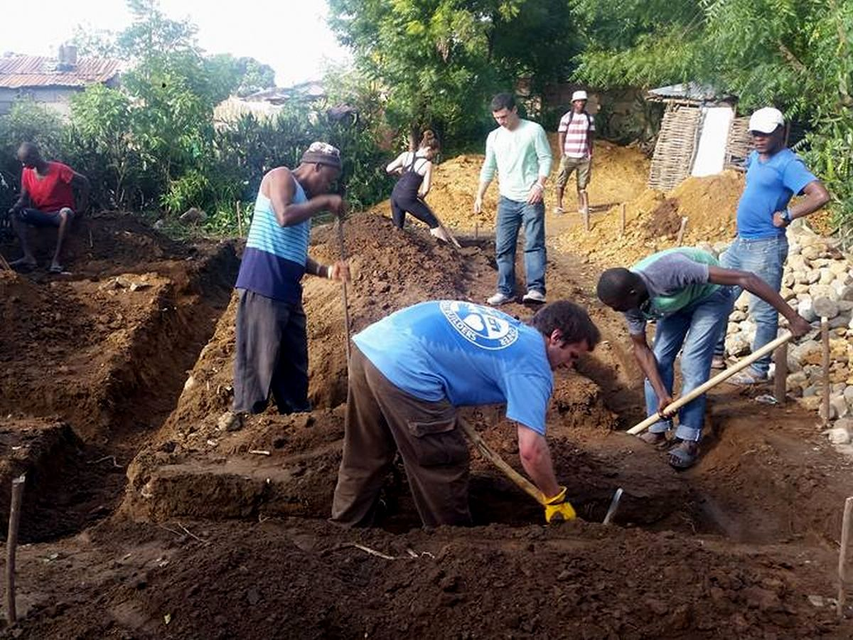 Fuller Center Global Builders work with locals this week in Pignon, Haiti.