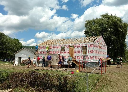 Closing ceremony today for two-house blitz build in Rainelle, West Virginia