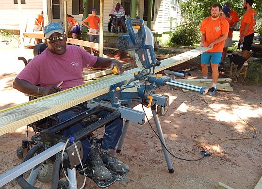 Bicycle Adventurers relish opportunity to help people during build days