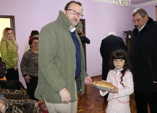 U.S. Ambassador to Armenia attends blessing for home he and others helped build