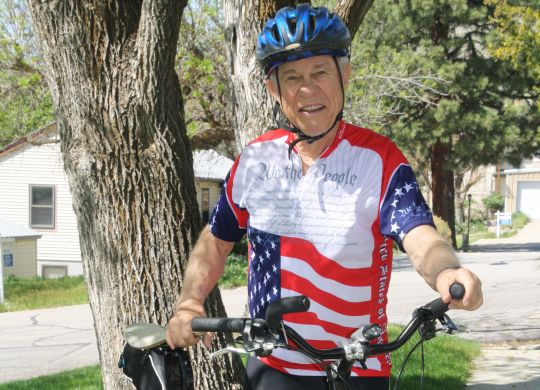 Grandfather of nine explains why he is cycling across the country this summer