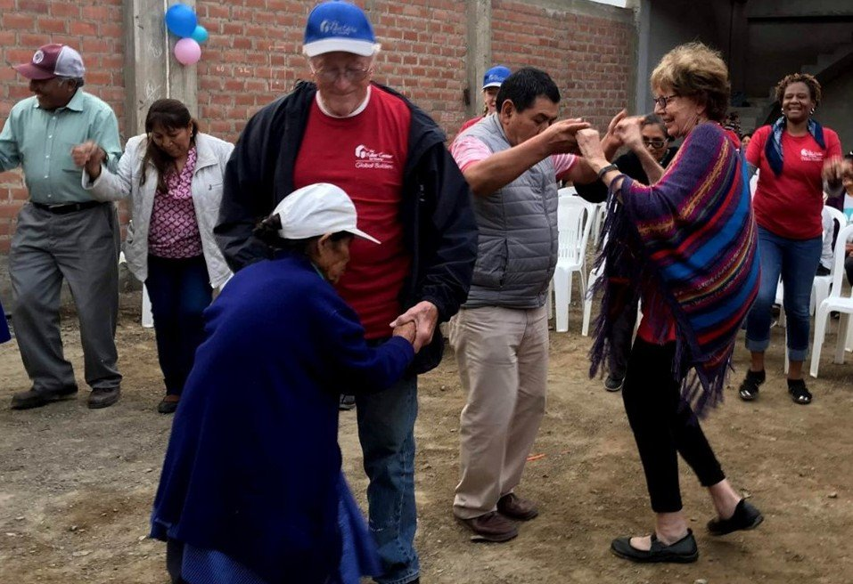 Linda Fuller and husband Paul were among those celebrating our 100th home in Peru in September.
