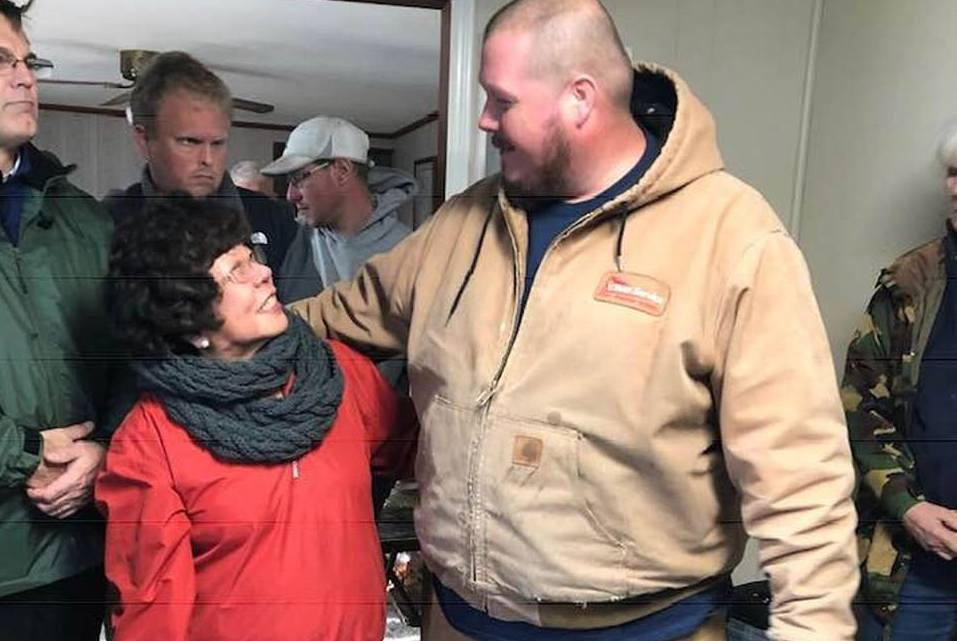 The Disaster ReBuilders' Aaron Ratliff with our first Florence project partner in North Carolina, Ms. Nori.