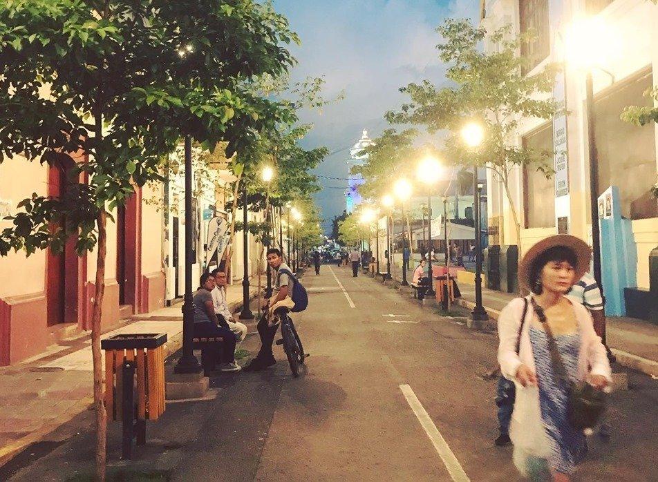 Street scene in beautiful Leon, Nicaragua.