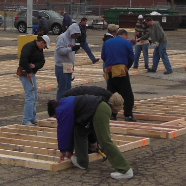 Team effort gets walls built fast in — of course — Speedway, Ind.