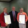 Indiana governor honors Chuck Vogt, Ron Fisher as Distinguished Hoosiers