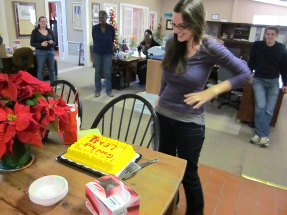 Leah takes the cake