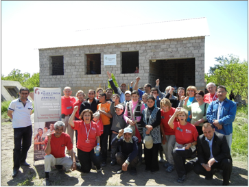 Linda Fuller and LeRoy Troyer build homes for Armenian families
