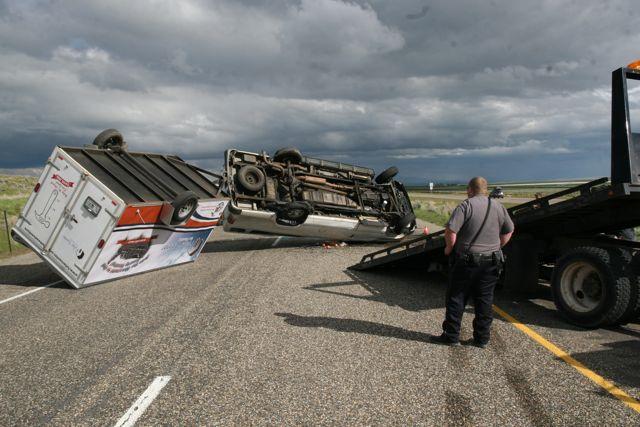 Bike Adventure team's van crashes; 4 minor injuries
