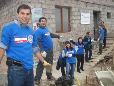 Young Professionals aid two families with Fuller Center Armenia