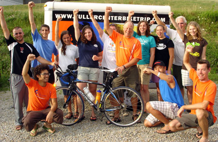 Riders with the Fuller Center make a stop in Connellsville