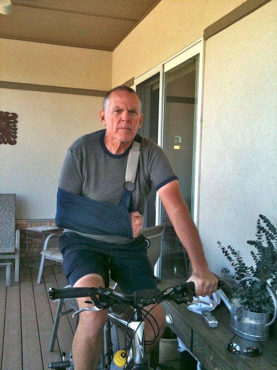 Injured Tom Weber rejoining Fuller Center Bike Adventure